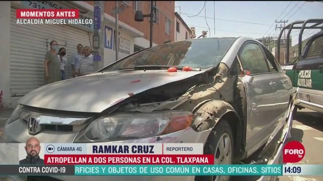 FOTO: 16 de mayo 2020, conductora atropella a dos personas en la colonia tlaxpana