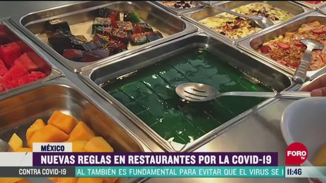 conoce las nuevas reglas en restaurantes por covid