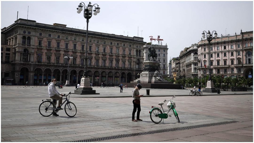 Imagen: La región de Lombardía no registró muertes por COVID, 24 de mayo de 2020 (Getty Images)