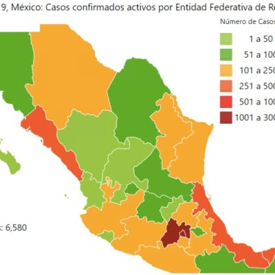 Mapa y estadísticas de coronavirus en México del 2 de mayo de 2020