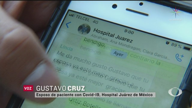 Foto: Hospital Juarez de México Grupo Whatsapp Informes Pacientes Coronavirus 5 Mayo 2020