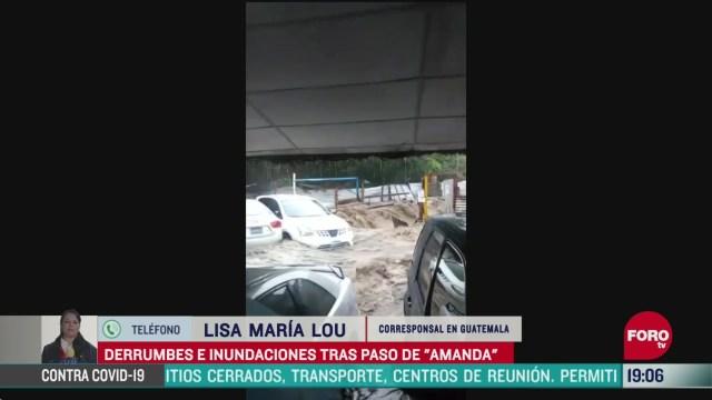 FOTO: 31 de mayo 2020, derrumbes e inundaciones deja amanda en guatemala