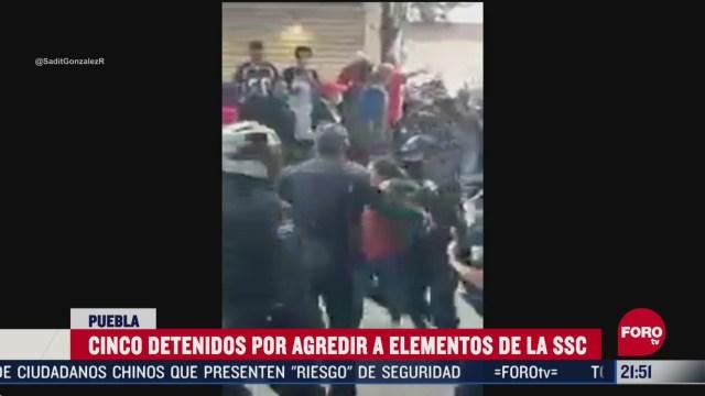 FOTO: 31 de mayo 2020, detienen a cinco tras trifulca en amalucan puebla