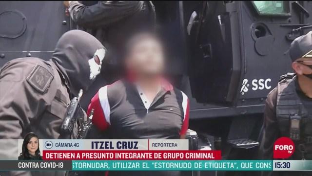 FOTO: detienen en cdmx a presunto lider de grupo criminal con cuatro mdp en efectivo