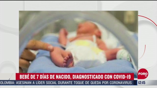 diagnostican con covid 19 a bebe recien nacido