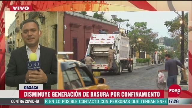 FOTO: disminuye generacion de basura por confinamiento en oaxaca