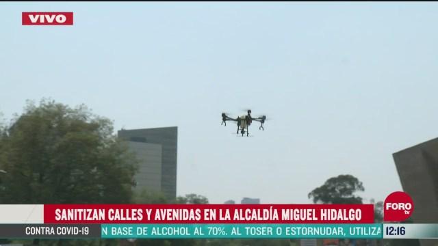 enormes drones sanitizan la ciudad de mexico