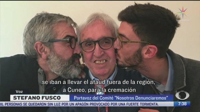 familiares de muertos por coronavirus en italia exigen justicia