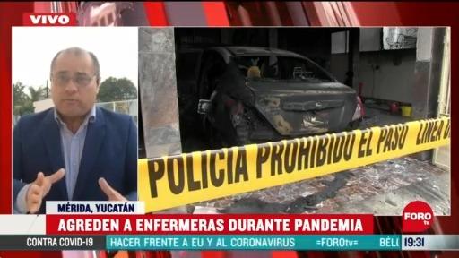 Video incendian casa de enfermeras en Yucatán