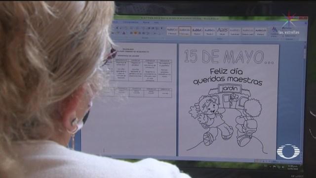 Foto: Maestra De Preescolar Recibe Afecto Gracias A Tecnología 15 Mayo 2020