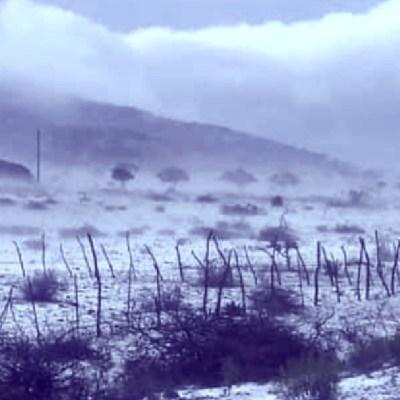 Fotos y video: Granizo deja paisajes blancos en Galeana y Aramberri, Nuevo León