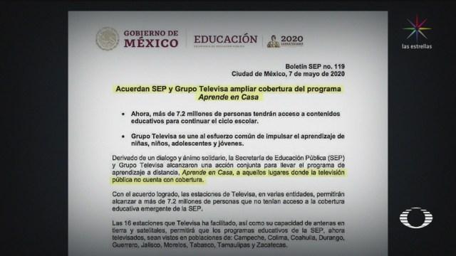 Foto: Televisa Transmitirá Programa Aprende En Casa Sep 7 Mayo 2020