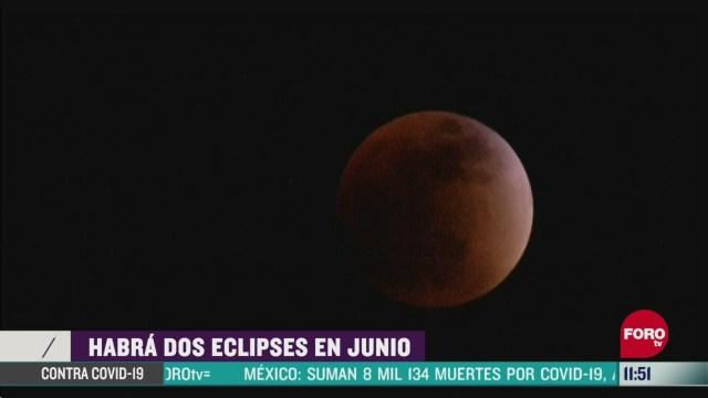 habra dos eclipses en junio