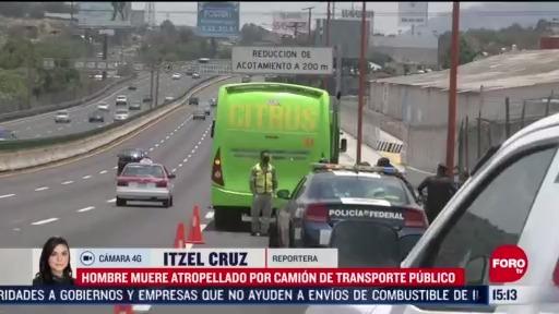 FOTO: 31 de mayo 2020, hombre muere tras ser atropellado en la autopista mexico pachuca