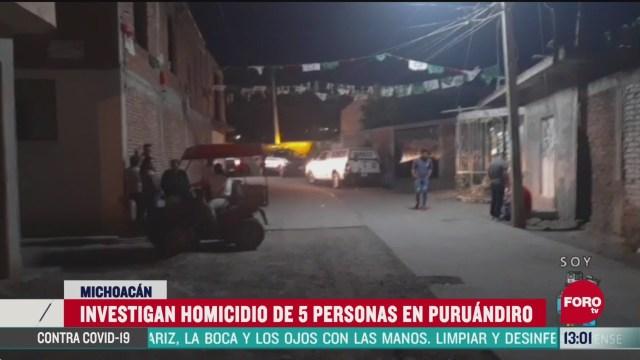 FOTO: 24 de mayo 2020, hombres armados matan a cinco personas en puruandiro