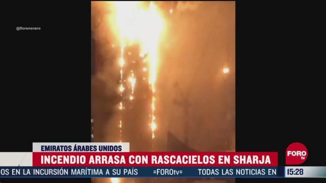 FOTO: incendio arrasa con rascacielos en eau