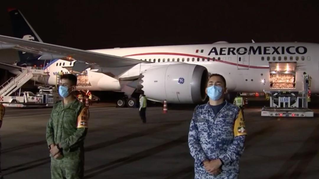 Llega a México onceavo avión con insumos médicos de China