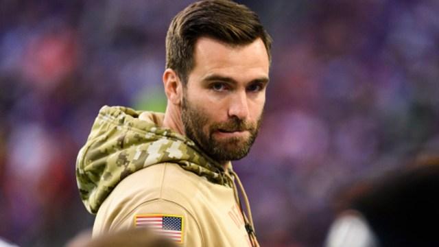 Joe Flacco durante el partido Broncos de Denver contra los Vikingos de Minnesota. Getty Images/Archivo