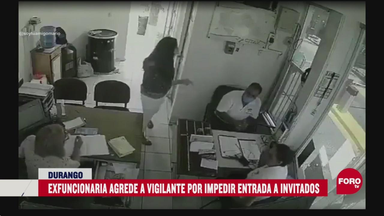 FOTO: lady manotazos golpea a vigilante por no dejar entrar a sus invitados