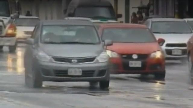 FOTO: Fuertes lluvias y granizo causan daños en el estado de Nuevo León, el 17 de mayo de 2020