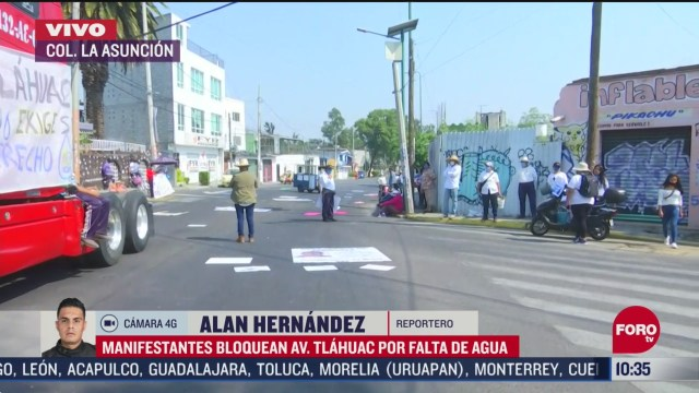 manifestantes bloquean avenida tlahuac por falta de agua