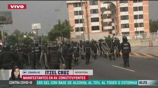 FOTO: manifestantes marchan por constituyentes en cdmx