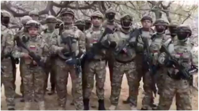 Foto: Militares se atribuyen invasiòn frustrada a Venezuela, 3 de mayo de 2020 (Twitter)