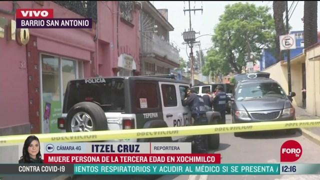 muere persona de la tercera edad en xochimilco