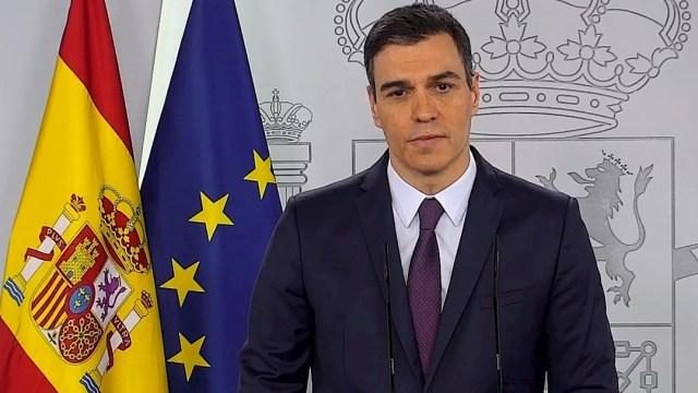 Pedro Sánchez, presidente del Gobierno de España, durante una rueda de prensa. (Foto: EFE)