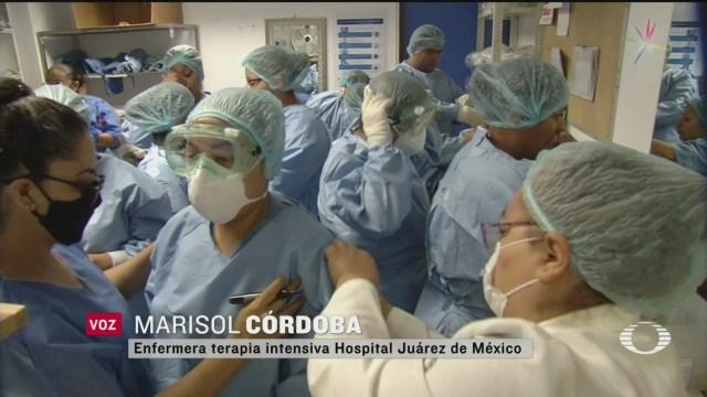 Foto: Personal Del Hospital Juárez De México Se Da Ánimos 4 Mayo 2020