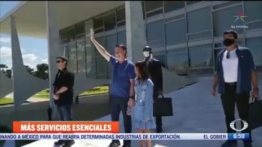 presidente de brasil autoriza que gimnasios y esteticas abran durante la pandemia