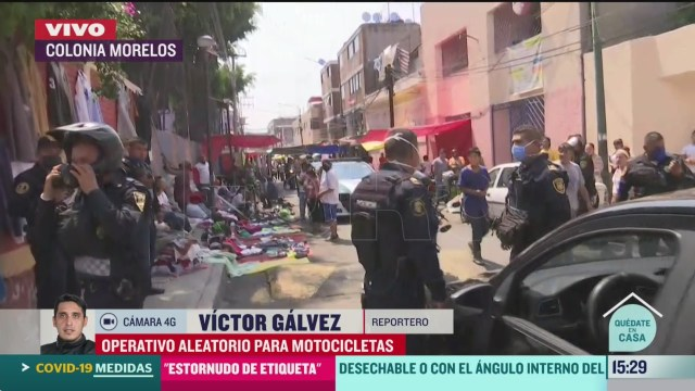 FOTO: realizan operativo para motociclistas en tepito