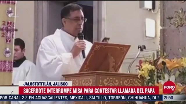 Video: Sacerdote mexicano recibe llamada del Papa Francisco