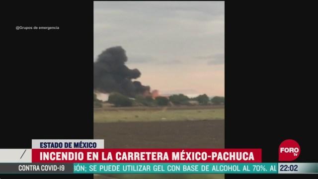 FOTO: 31 de mayo 2020, se registra fuerte incendio en la carretera mexico pachuca