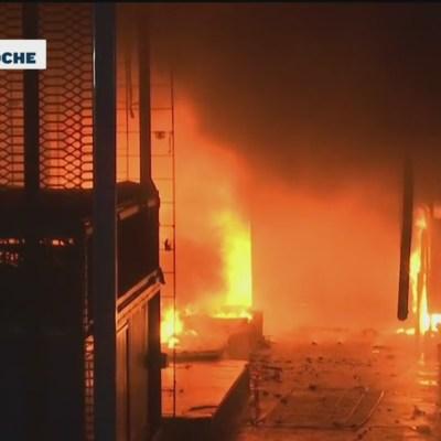 Se reporta fuerte incendio en la Central de Abasto de Oaxaca