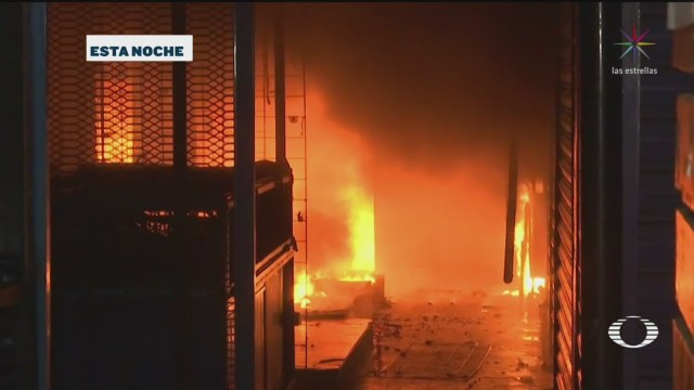 Video: incendio en la Central de Abasto de Oaxaca