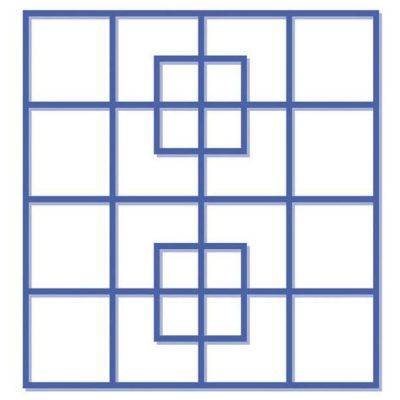 Reto visual: ¿Cuántos cuadros puedes ver en esta imagen?