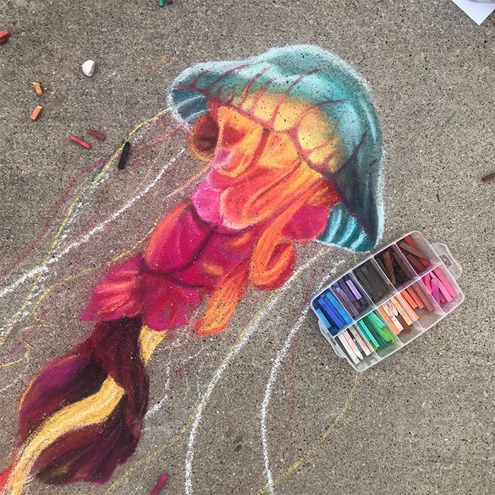 Madre e hija crean arte en 3D para sus vecinos en cuarentena