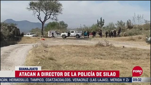 FOTO: 2 de mayo 2020, sujetos armados emboscan patrulla donde viajaba el director de la policia de silao