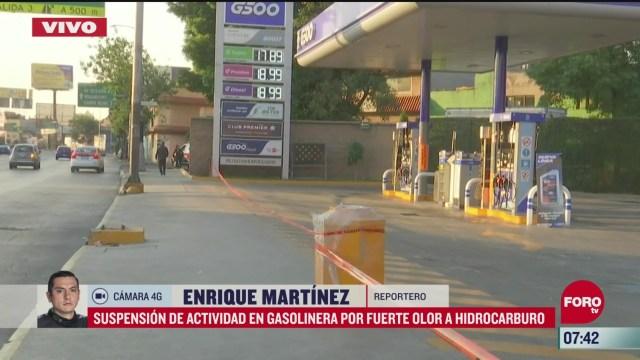 suspension de actividades en gasolinera por olor a hidrocarburo