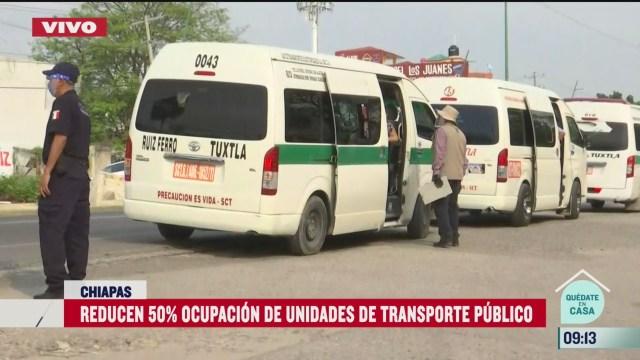 transporte publico en chiapas reduce ocupacion en unidades por coronavirus