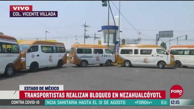 transportistas bloquean calles del estado de mexico