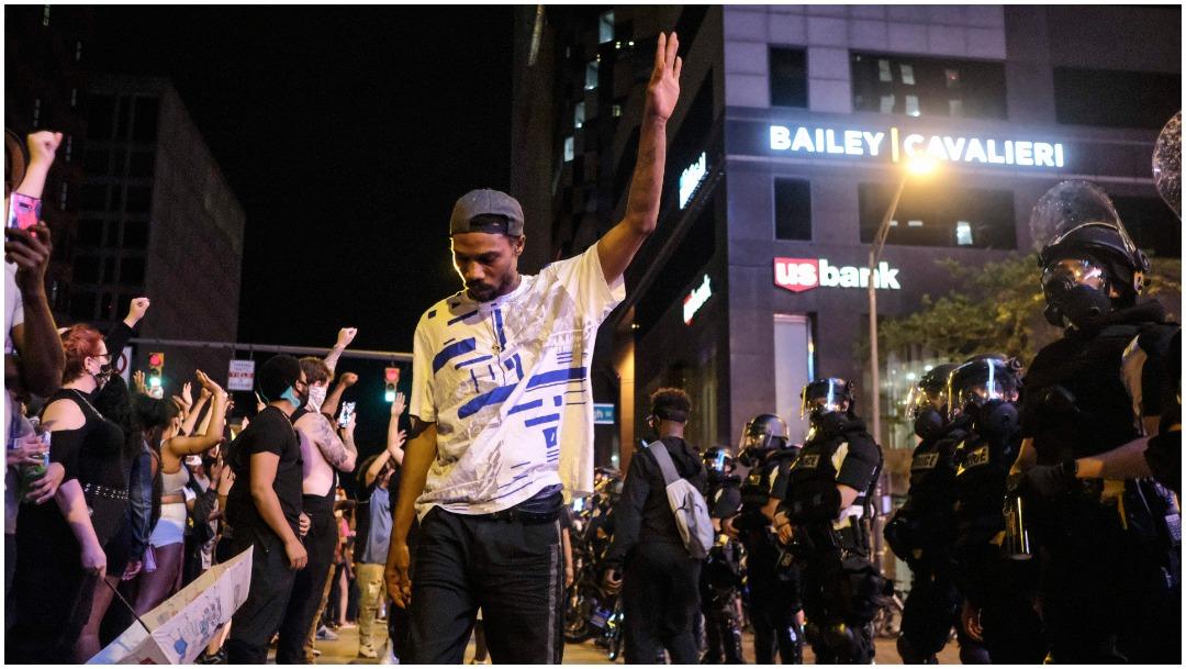Foto: Donald Trump volvió a arremeter contra las protestas en Estados Unidos, 31 de mayo de 2020 (Getty images)