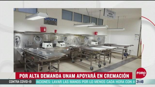 Foto: unam apoyara en cremacion por covid 4 Mayo 2020