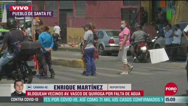 FOTO: vecinos bloquean avenida vasco de quiroga por falta de agua