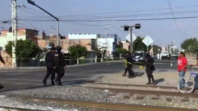 FOTO: Video capta ataque de hombres armados a Policía Municipal de Celaya, Guanajuato, el 20 de mayo de 2020