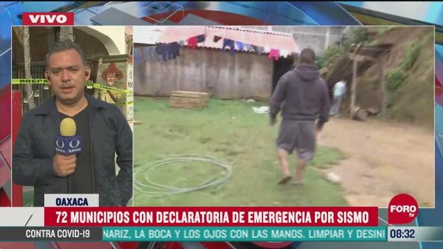 72 municipios de oaxaca declaran emergencia tras sismo