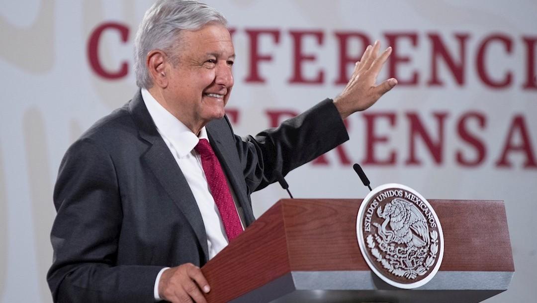 El presidente de México, Andrés Manuel López Obrador, durante una rueda de prensa en Palacio Nacional (Foto: EFE)
