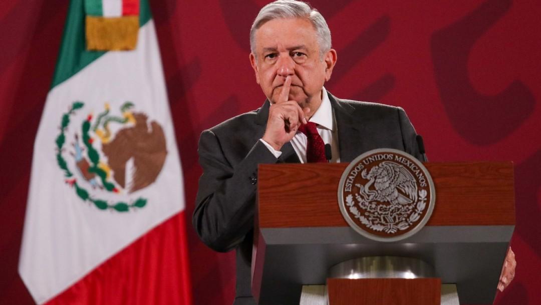 Andrés Manuel López Obrador, presidente de México, durante la conferencia mañanera en Palacio Nacional. (Foot: Cuartoscuro)