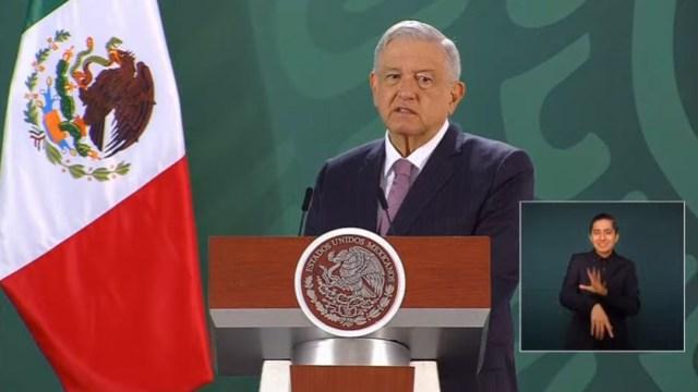 El presidente Andrés Manuel López Obrador durante su conferencia de prensa matutina desde Michoacán. (Foto: Redes sociales AMLO)